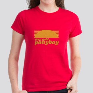 """""""Stay Gold Ponyboy"""" [The Outs Women's Dark T-Shirt"""